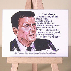 President-Ronald-Reagan-ACEO-portrait-art-and-famous-1980s-Quote