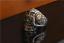 Anello-Massiccio-Fascia-Uomo-Donna-Unisex-Acciaio-Inox-Steel-Teschio-Skull-Punk miniatura 6