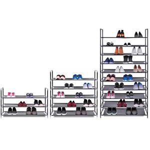 35 10 Tier Shelf Shoe Storage Rack Organiser For 15 25 Or 50