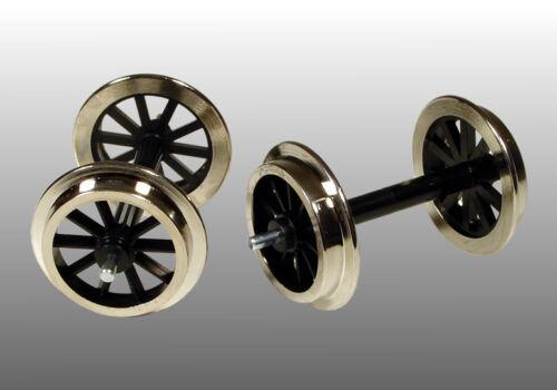 FGB 11 Speichen Metallradsatz 2 Achsen für Gartenbahn Spur G