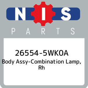 26554-5WK0A-Nissan-Body-assy-combination-lamp-rh-265545WK0A-New-Genuine-OEM-Pa