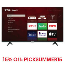 "TCL 50S435 50"" 4K Ultra HD HDR Roku Smart LED TV"