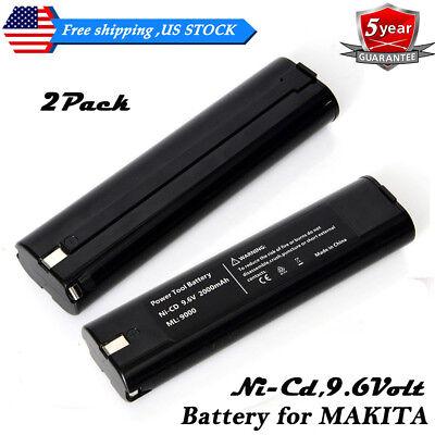 2x 3000mAh 9.6V Stick Style Battery For Makita 9000 9001 9002 9033 9600 632007-4