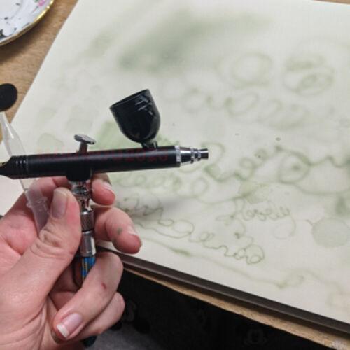 0.3mm Dual Action Gravity Feed Spray Airbrush Gun Nail Art Paint Tattoo Tool Kit