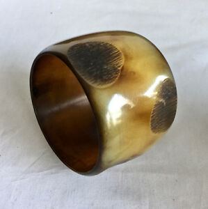 7d0fb7f2bbb Buffalo Horn Bangle Bracelet 2 3/8 wide 8 3/16 inside circumference ...