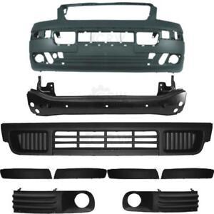 Set-parachoques-delantero-gris-oscuro-accesorios-portador-VW-t5-Transporter-ano-03-09