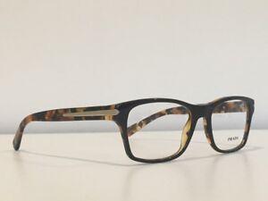 9cf79d52b23 70 PRADA VPR 16S UBS-1O1 Eyeglasses Rectangle Havana Eyewear Frame ...