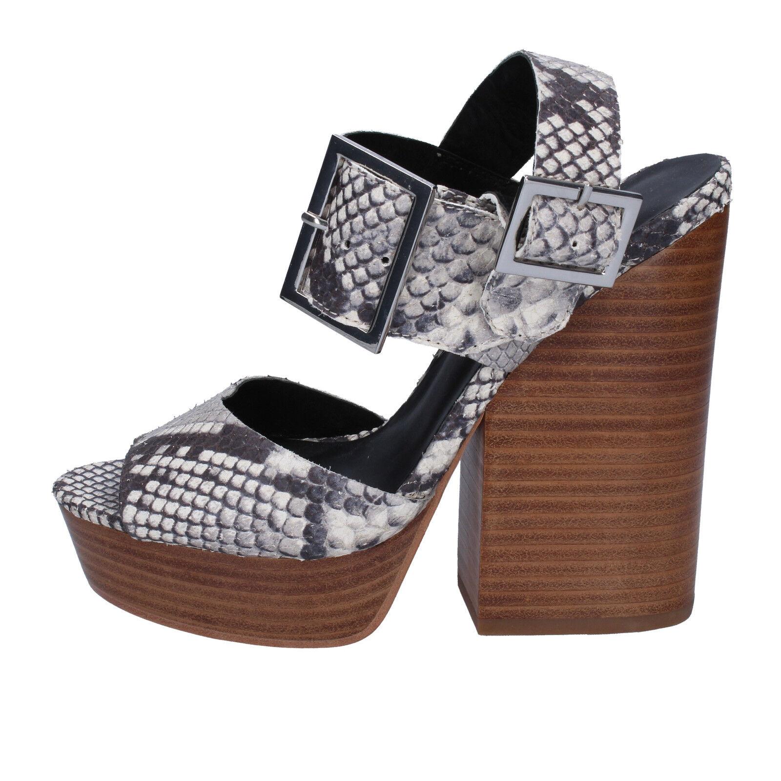 scarpe donna grigio ASH 36 EU sandali grigio donna pelle pitonata AB630-B 79d6e6
