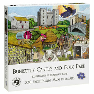 Bunratty-Castle-Folk-Park-500-Pieces-Jigsaw-Puzzle-Made-in-Ireland-New