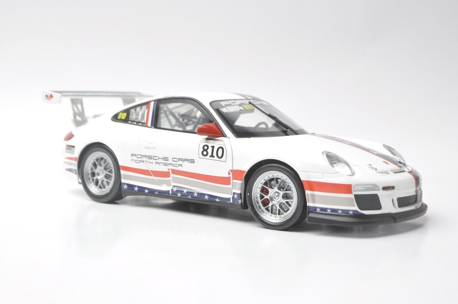 PORSCHE 911 GT3 CUP modèle de voiture en échelle 1 18 Blanc