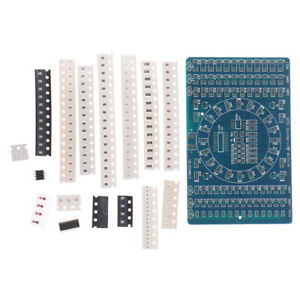 SMD Rotating LED SMD Components Soldering Practice Board Kit DIY ModGG