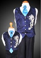 Korean Traditional Boy's Navy Fusion Hanbok Vest & Tie(12-24 M)