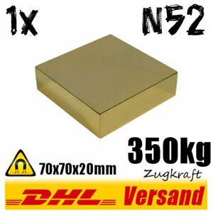 Neodym-Magnet-70x70x20mm-7x7x2cm-350kg-N52-starker-super-Dauermagnet-vergoldet
