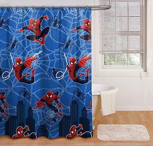 Image Is Loading Marvel Spider Man Spiderman Shower Curtain