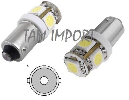 2 AMPOULES LED AUDI 80 90 100 200 COUPE BA9S T4W  5 SMD BLANC 6000K 12V