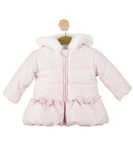 Mintini Baby Girls Pink Bow Hooded Jacket