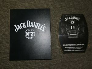 JACK-DANIEL-039-s-Old-No-7-Brand-Coasters-x-4-Boxed-Factory-Sealed-Cork-Back