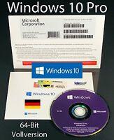 Microsoft Windows 10 Pro Vollversion SB 64-Bit Hologramm-DVD Deutsch OVP NEU