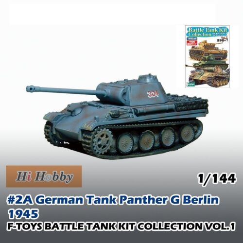 1//144 SCALE MODEL F-TOYS BATTLE TANK KIT 1 #2A GERMAN PANTHER G BERLIN 1945