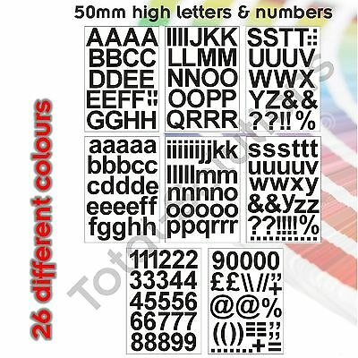 30mm Self Adhesive Vinyl Sticker Letters and Numbers Upper /& Lower case