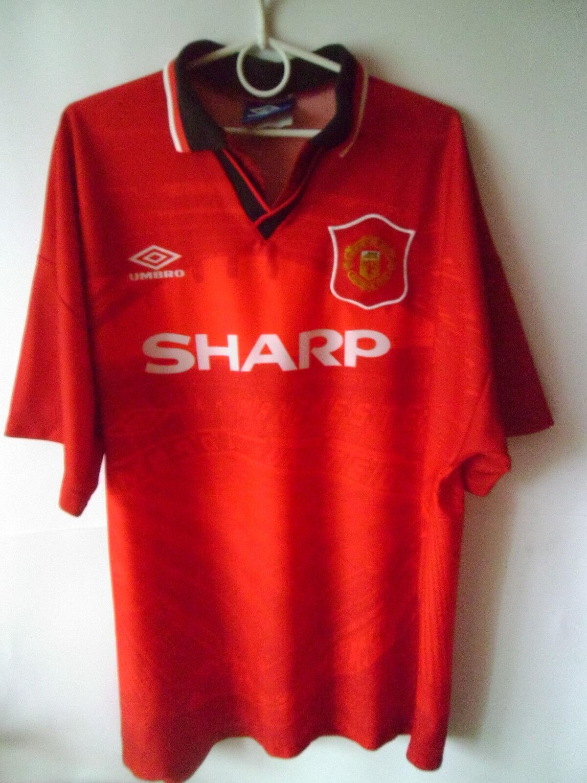 1994-95 1994-95 1994-95 Manchester United Home Shirt Jersey Trikot XL c19b03