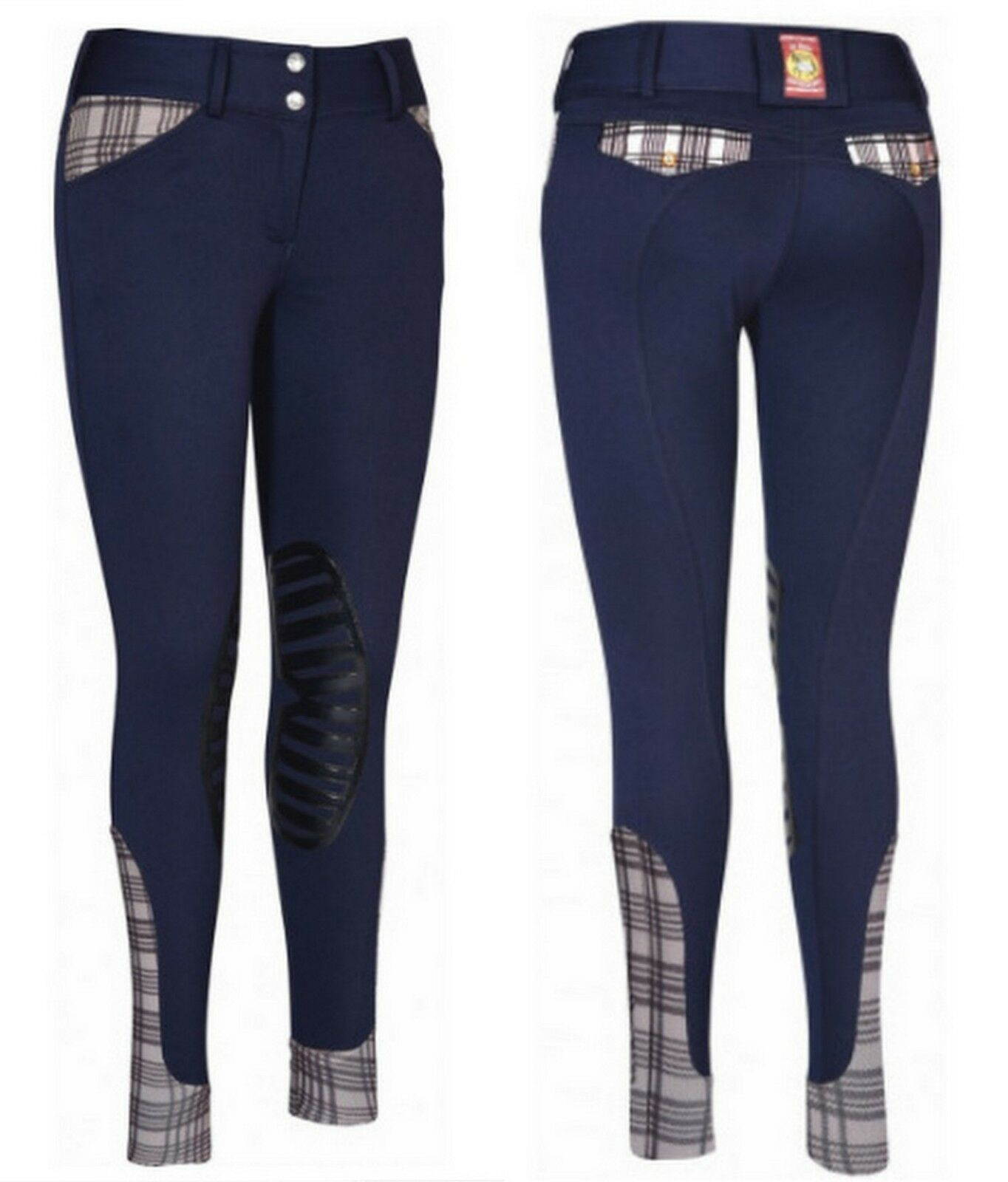 Baker Ladies Pro Silicone Knee Patch Breeches Navy Size 24 26 or 32