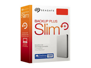 1To-2-5-034-Neuf-SEAGATE-Backup-Plus-SLIM-USB3-0-Disque-dur-Externe-Portable-1-To