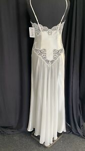 polyester nightdress in ivory with ivory lace by  Jane Woolrich