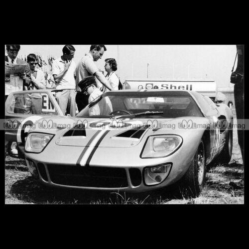 #pha.020266 Photo FORD GT 40 HOLQUIST-WYLLIE 24 HEURES DU MANS 1966 Car Auto