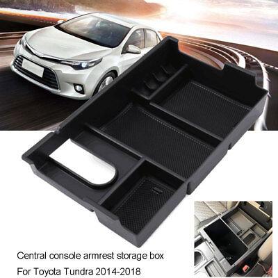 Center Console Organizer Armrest Glove Box Tray For Toyota Tundra 2014-2018