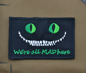 Ricamata-Embroidered-Patch-034-We-039-re-all-MAD-here-PJ-034-with-VELCRO-brand-hook