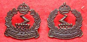 33rd Infantry Battalion ( New England Regiment) Oxidized Collar Badges 1930-1942