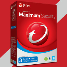 Trend Micro Maximum Security 11 2017 1 Year 3 Devices (Licence Key Only)