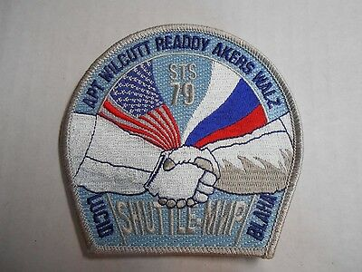 """NASA STS-79 Atlantis MIR Space Shuttle Mission Embroidered Arm Patch 4/""""  NEW"""