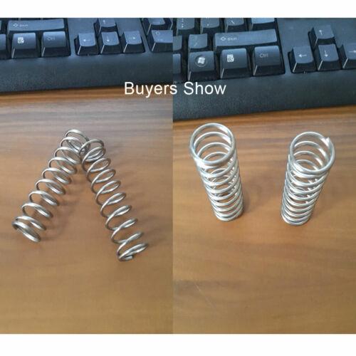 5-10x Druckfeder 0,6 mm Draht Verzinkt Stahl Druck Kleine Federn Alle Größe DIY