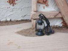 Krippenzubehör- Petroliumlampe elektrisch  3,5 cm - weißes Licht - mit Diode !!