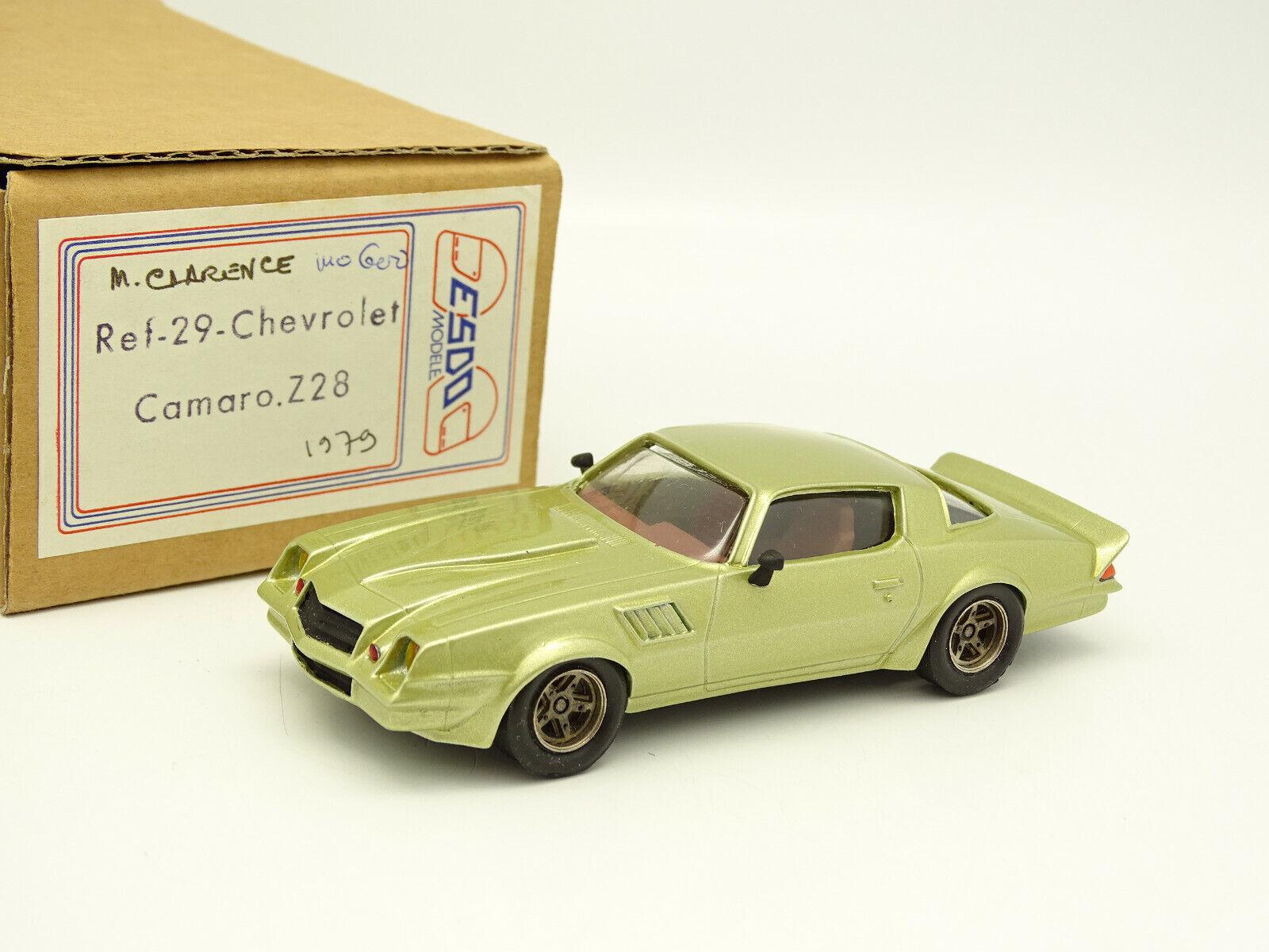 Esdo Kit Assembled Resin 1 43 - Chevrolet Camaro Z28 Green