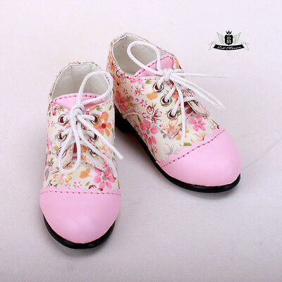 MSD 1/4 BJD Shoes Dollfie MID lolita Pink Flowers Shoes AOD DOD LUTS EID SOOM DZ