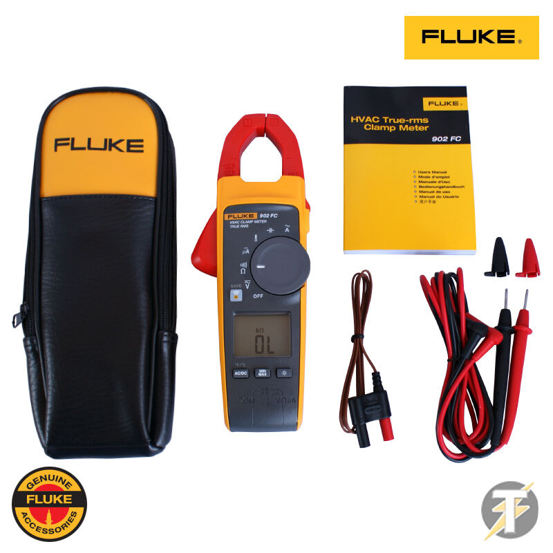 Fluke 902 FC TRUE-RMS HVAC Zangenamperemeter mit Etui und Kabel | eBay