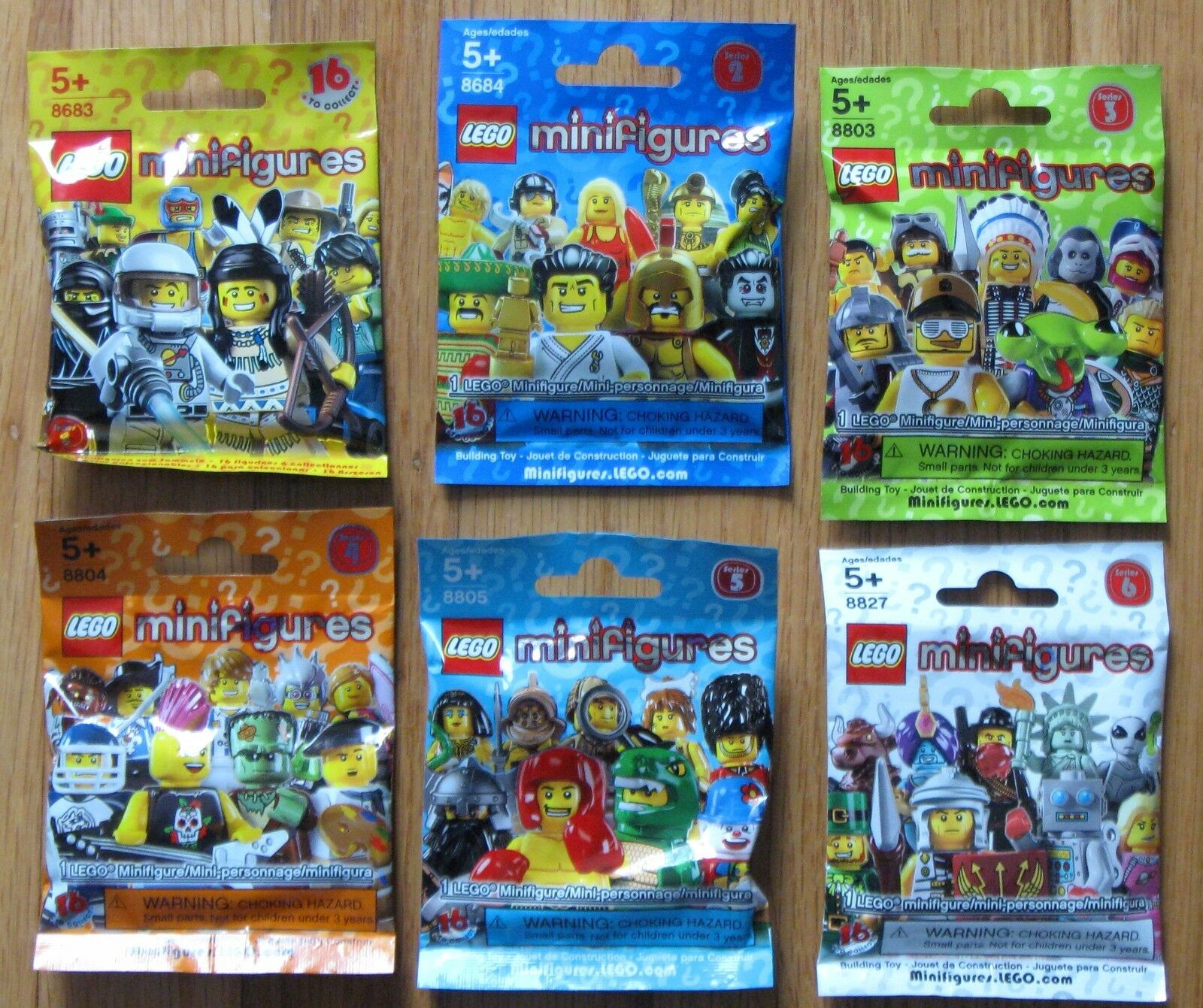 FACTORY SEALED LEGO Series 2 3 4 5  6  Unopened completare Sets of 16 Minicifras  prezzi equi