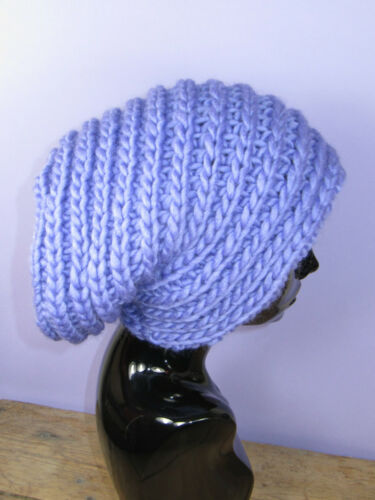PRINTED KNITTING INSTRUCTIONS SUPER CHUNKY SIDE RIB SLOUCH HAT KNITTING PATTERN