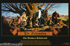 POSTER-FANTASY-THE-FELLOWSHIP-by-HILDEBRANDT-BROS-FREE-SHIP-589-LC8-D