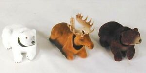 12-PC-BOBBING-HEAD-WILD-ANIMALS-DASHBOARD-novelty-toy-moving-bears-moose-car