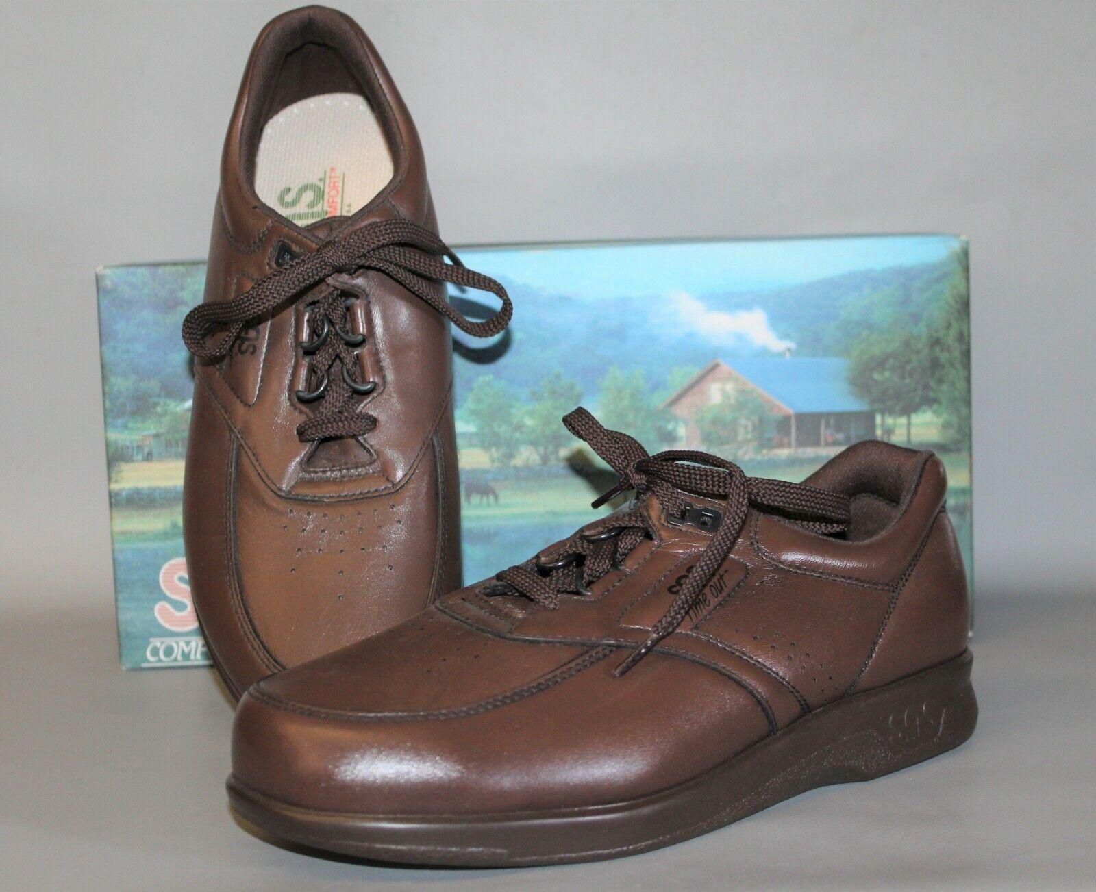 Nuevo Para hombres de tiempo de espera SAS marrón cuero zapatos cómodos, de apoyo, hecho en EE. UU.