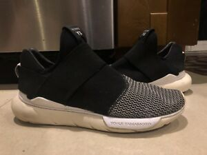 220c89f91 Adidas Y-3 Y3 Yohji Yamamoto Qasa Low II Primeknit Black White Size ...
