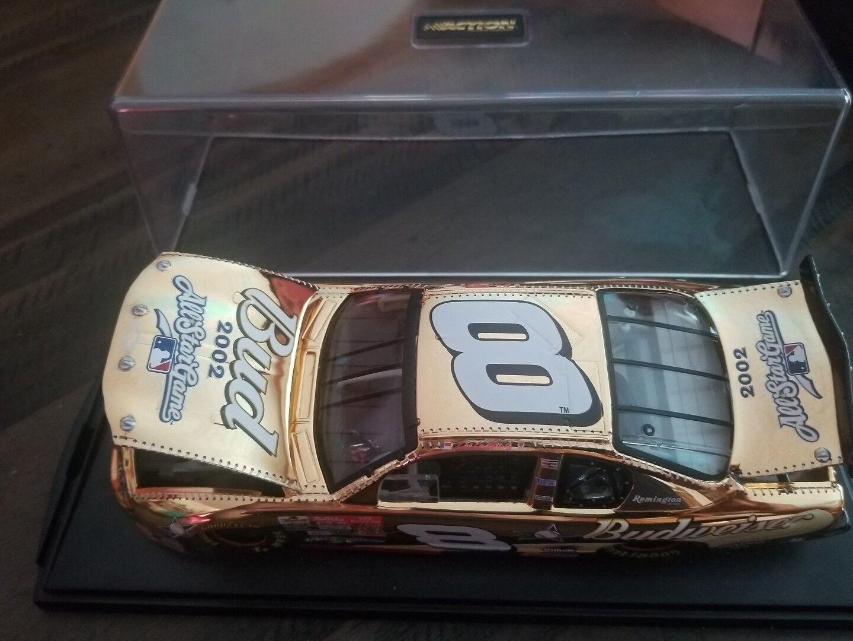 Dale Jr Bud 2002 Monte Carlo 24KT oro Stock Car Diecast 1 24 Con Vitrina