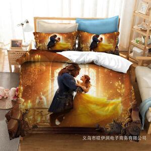 Beauty And The Beast Bedding Set 3pcs Duvet Cover Pillowcases Comforter Ebay