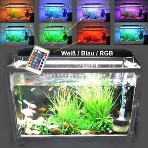 hi lumen aquarium beleuchtung led wei e blaue 3 modi aluminiumgeh use lampe rgb ebay. Black Bedroom Furniture Sets. Home Design Ideas
