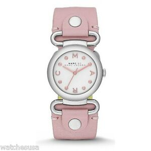b6ab0d7225d36 Marc by Marc Jacobs Small Molly River Pink Leather Ladies Watch ...