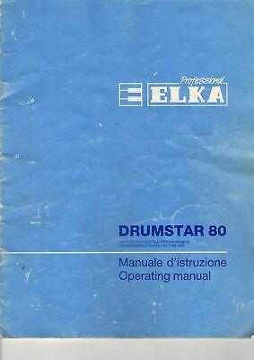 ELKA  DRUMSTAR 80 Rhythm Unit   Bedienungsanleitung mit Prospekt NEU